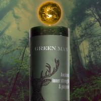 Green Man World Candle