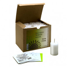World Magic Sacred White Sage Votives (Box of 24)