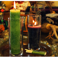 Blessed Herbal Coventry Glass Candle Holders