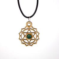 Chakra Magic Heart Wood Jewelry and Sticker