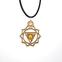 Chakra Magic Solar Plexus Wood Jewelry and Sticker