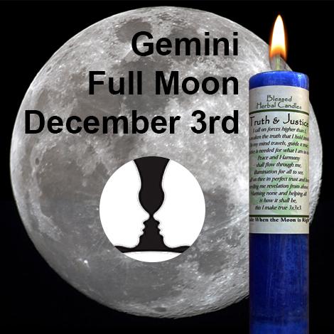 Full moon in Gemini on December 3, 2017