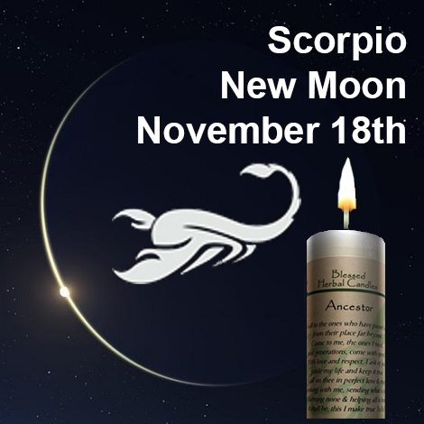 New moon in Scorpio on November 18, 2017