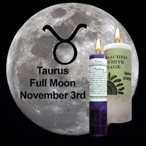 Full moon in Taurus on November 3, 2017