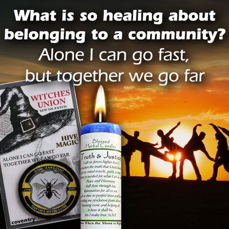 What is so healing about belonging to a community?
