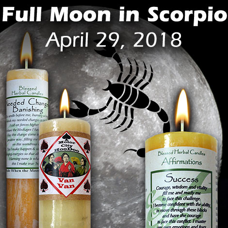 Full moon in Scorpio April 29, 2018