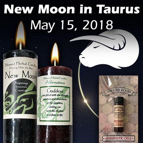 New moon in Taurus on May 15, 2018