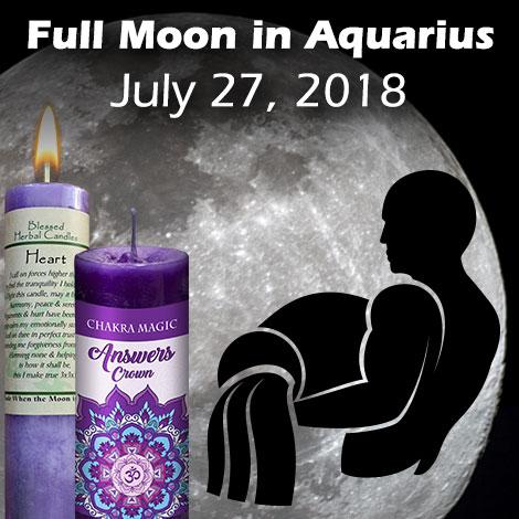 Full moon in Aquarius July 27, 2018