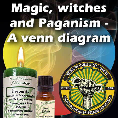 Magic, Witches and Paganism - A Venn Diagram