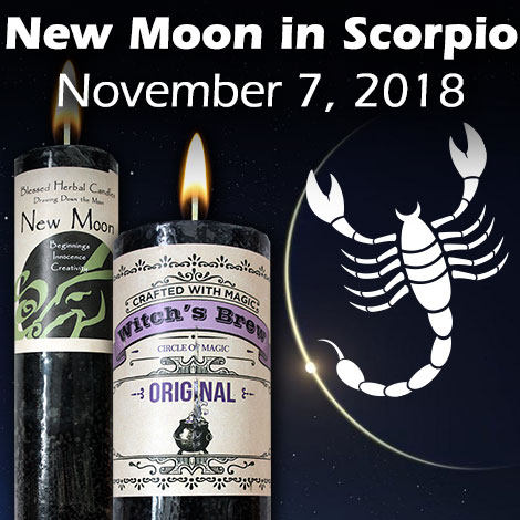 New Moon in Scorpio November 7, 2018