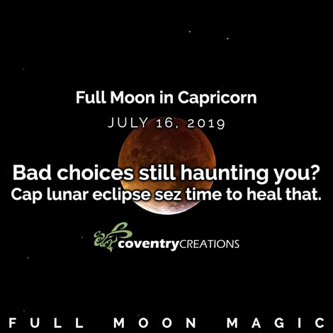 Full moon in Capricorn July 16, 2019