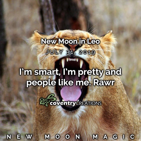 New moon in Leo July 31, 2019