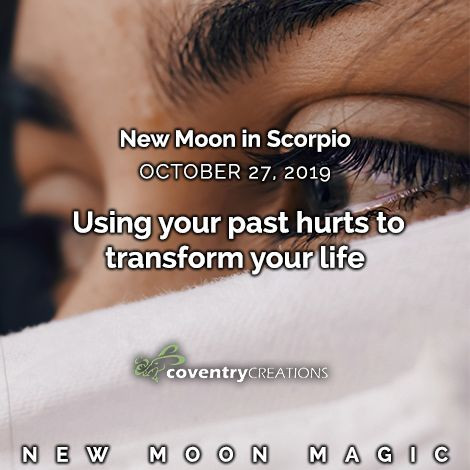 New moon in Scorpio October 27, 2019