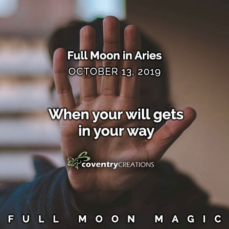 Full moon in Aries on October 13, 2019