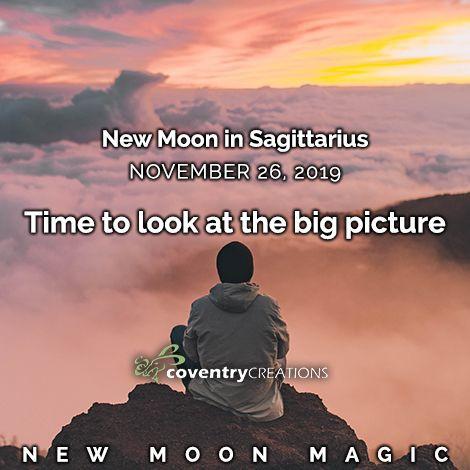 New moon in Sagittarius November 26, 2019