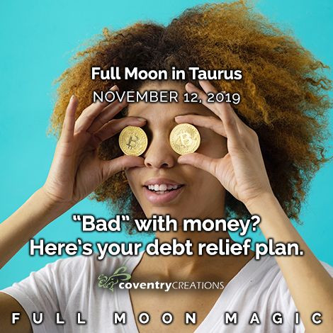 Full moon in Taurus November 12, 2019