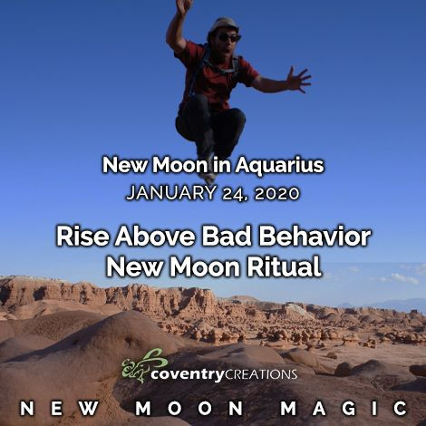 New Moon in Aquarius on January 24, 2020