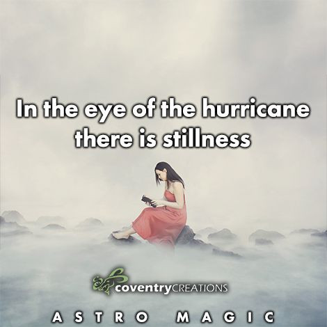In the eye of the hurricane there is stillness
