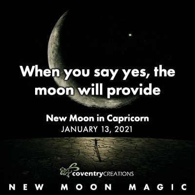 New Moon in Capricorn January 13, 2021