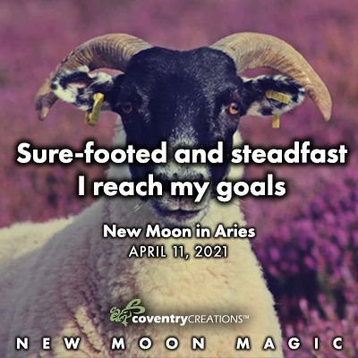 New Moon in Aries on April 11, 2021